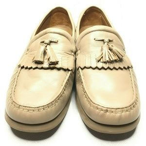 Rockport Made in Italy Cream Light Tan Loafers